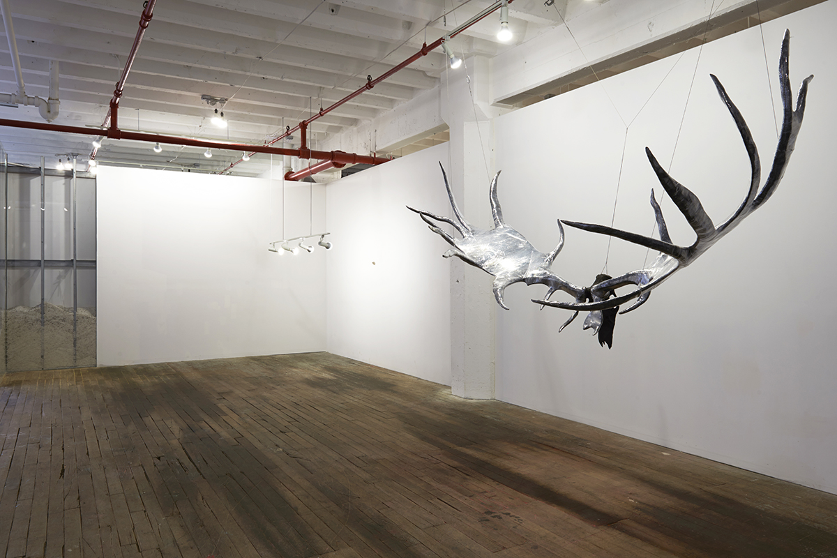 "Site specific installation by Michael Joo. ""Megafawn (Extincted),"" 2010."