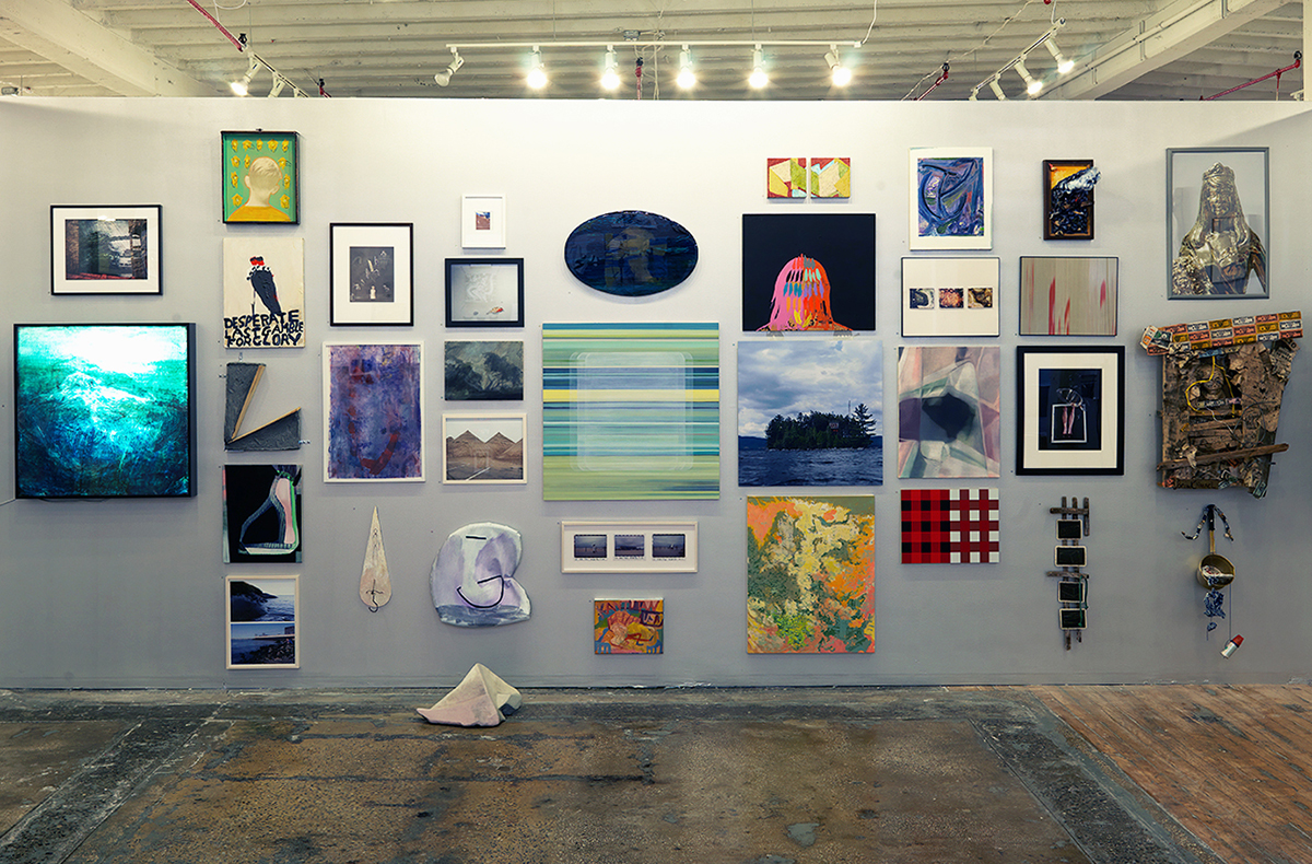 """The Beauty of Friends Coming Together II."" Installation view."