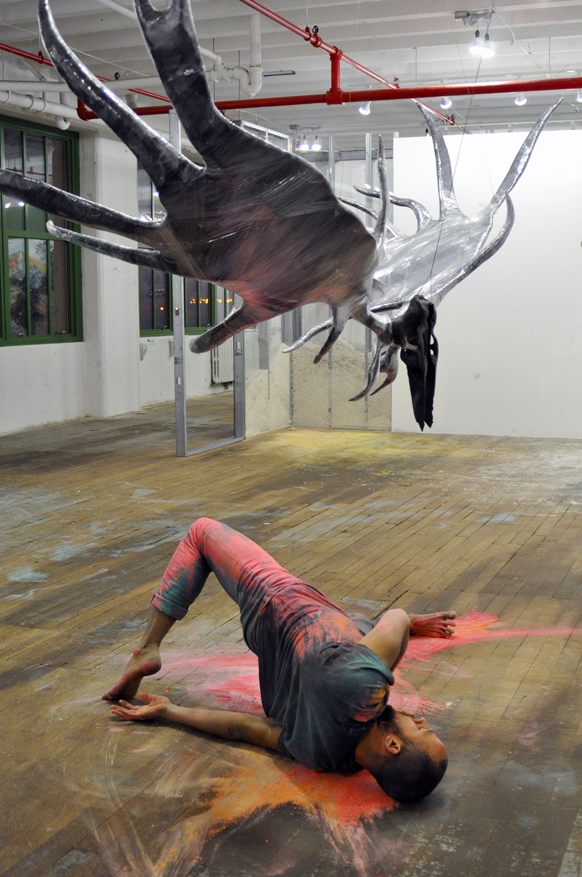 """decumulation,"" by Will Rawls in ""Perfoming the Precarious: Day into Night,"" presented by Danspace Projects."