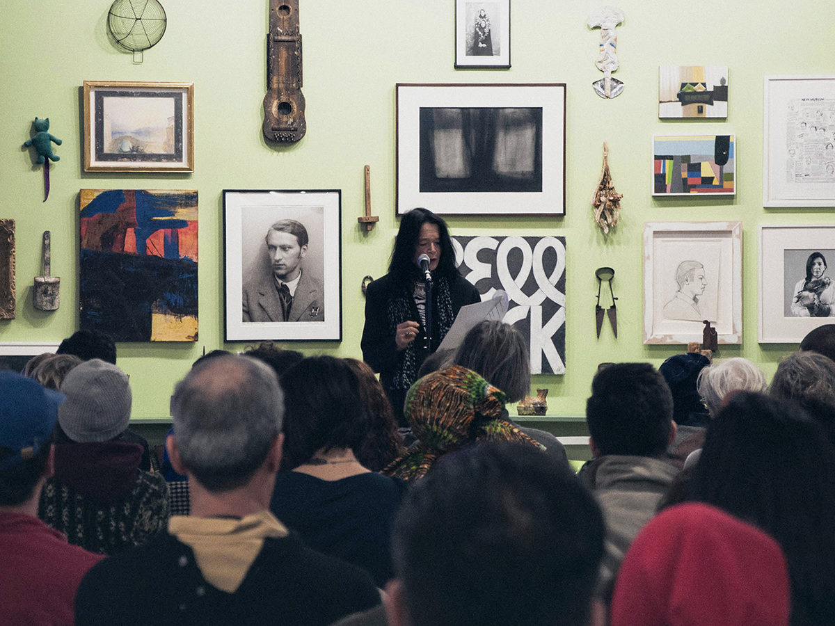 "Anne Waldman reading in ""Oh! Sandy: A Remembrance."""