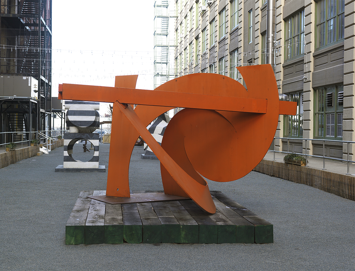 "Mark di Suvero, ""Rust Angel,"" 1995."