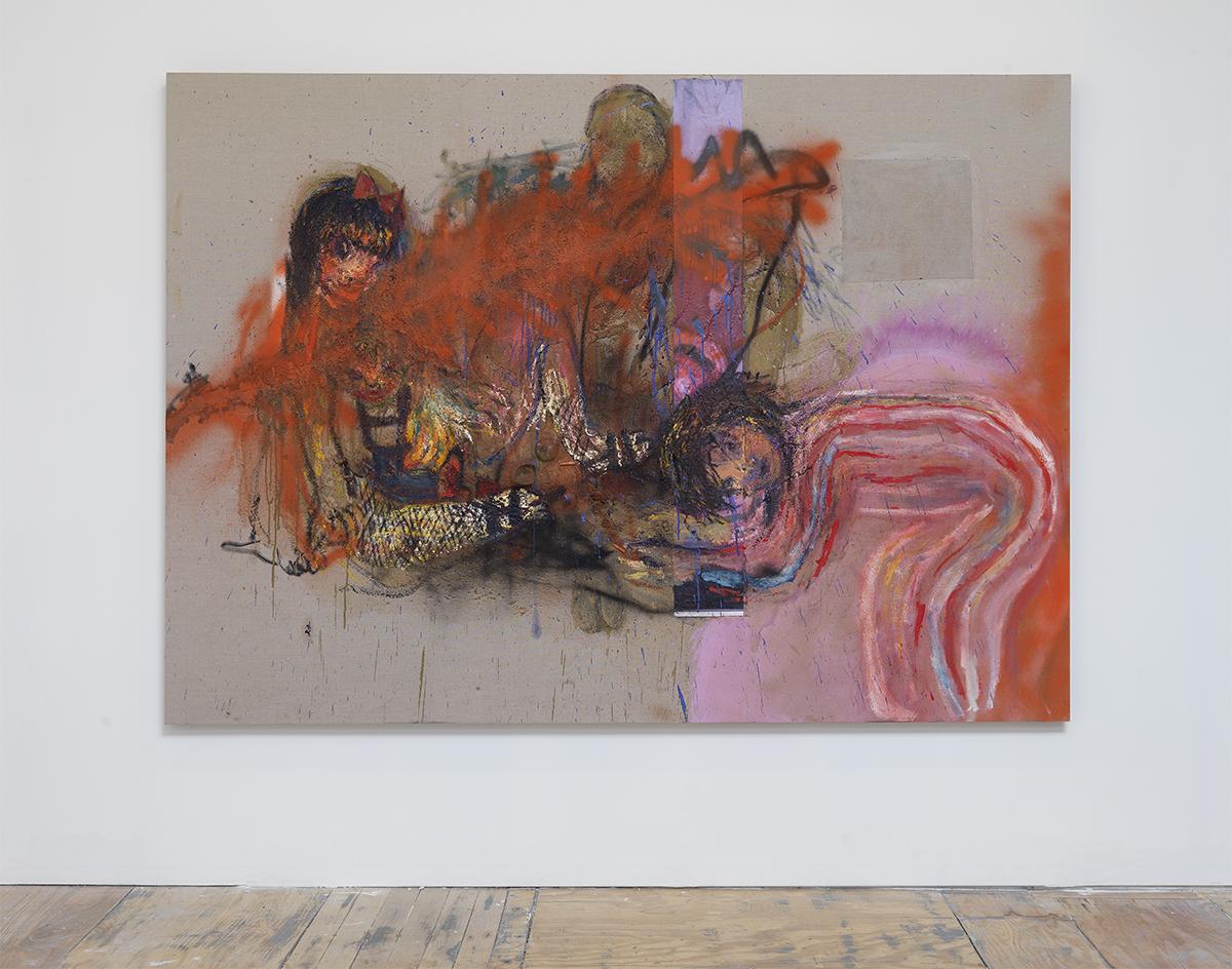 """Rita Ackermann, """"Picnic,"""" 2010."""