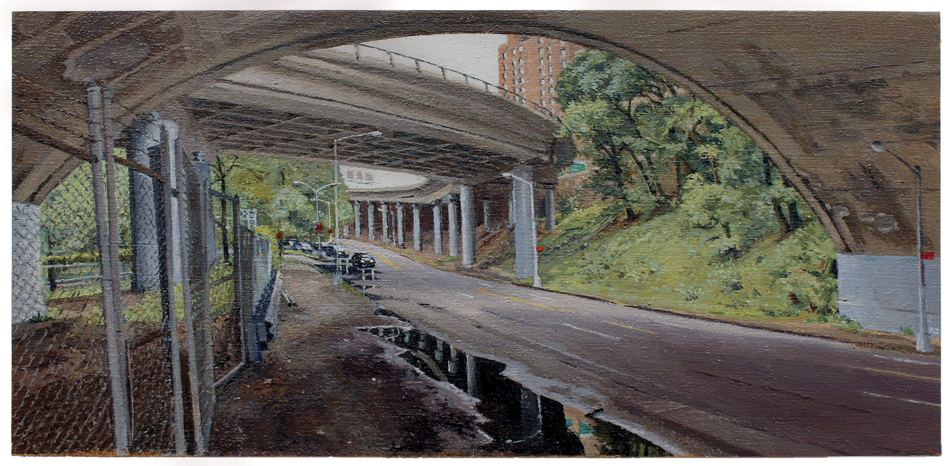 "Rackstraw Downes, ""Under the J Line at Alabama Avenue, 2007."