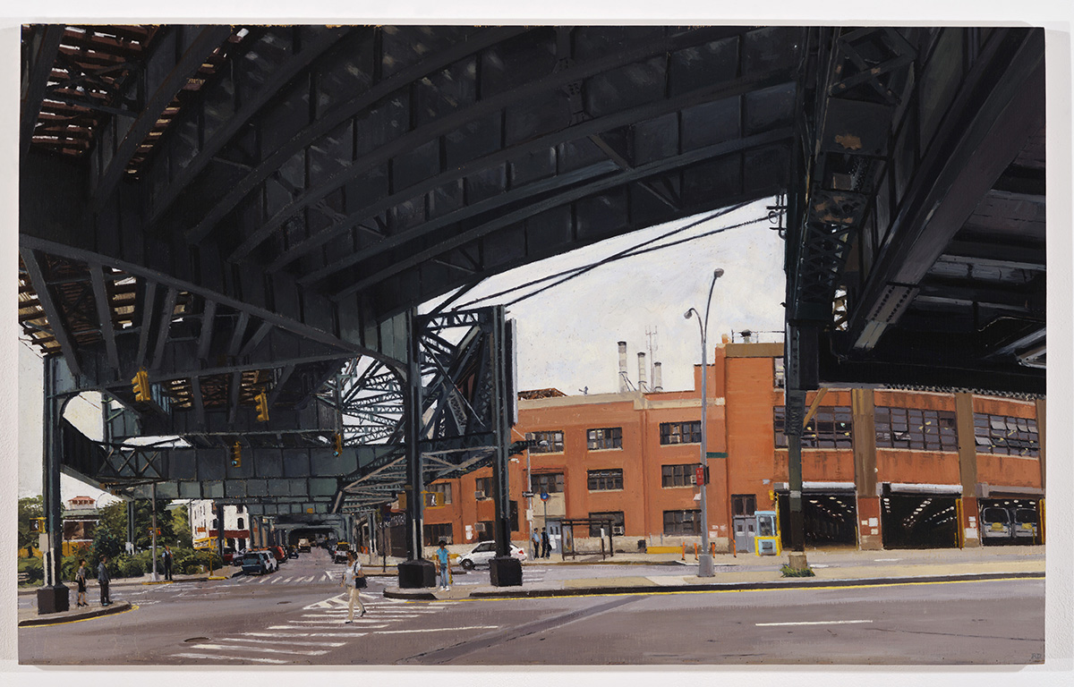 "Downes, Rackstraw, ""Under the J Line at Alabama Avenue,"" 2007."