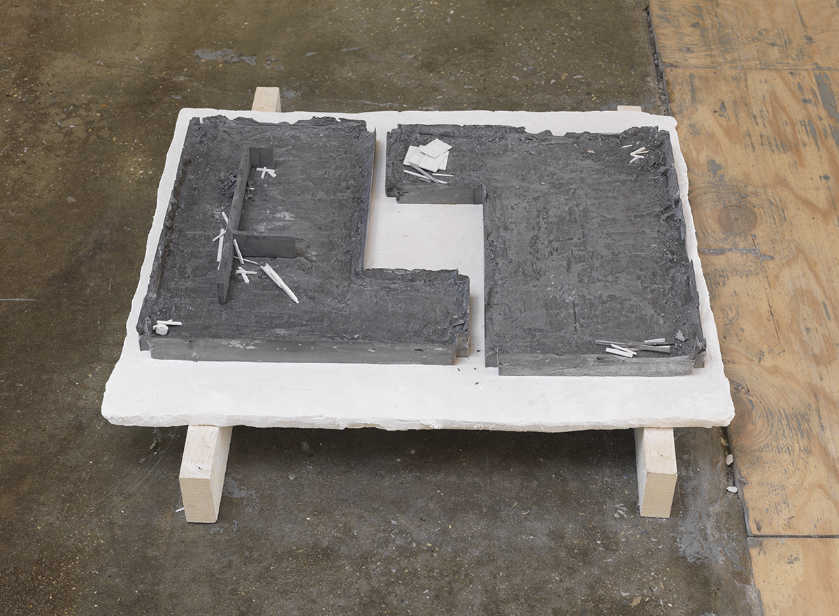 "Chris Larson, ""Untitled (studio floor refigured and resited),"" 2013."