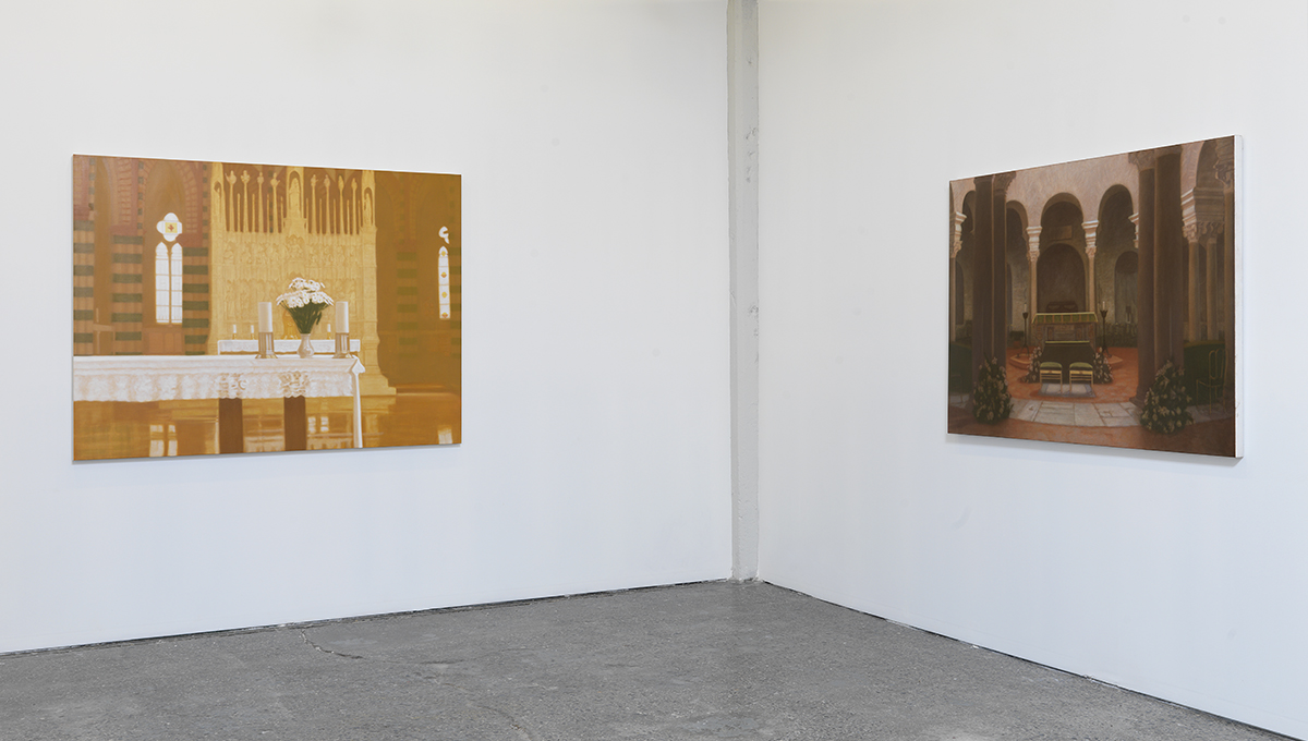 "Matvey Levenstein, L to R: ""Cathedral,"" 2009. ""Temple,"" 2010."