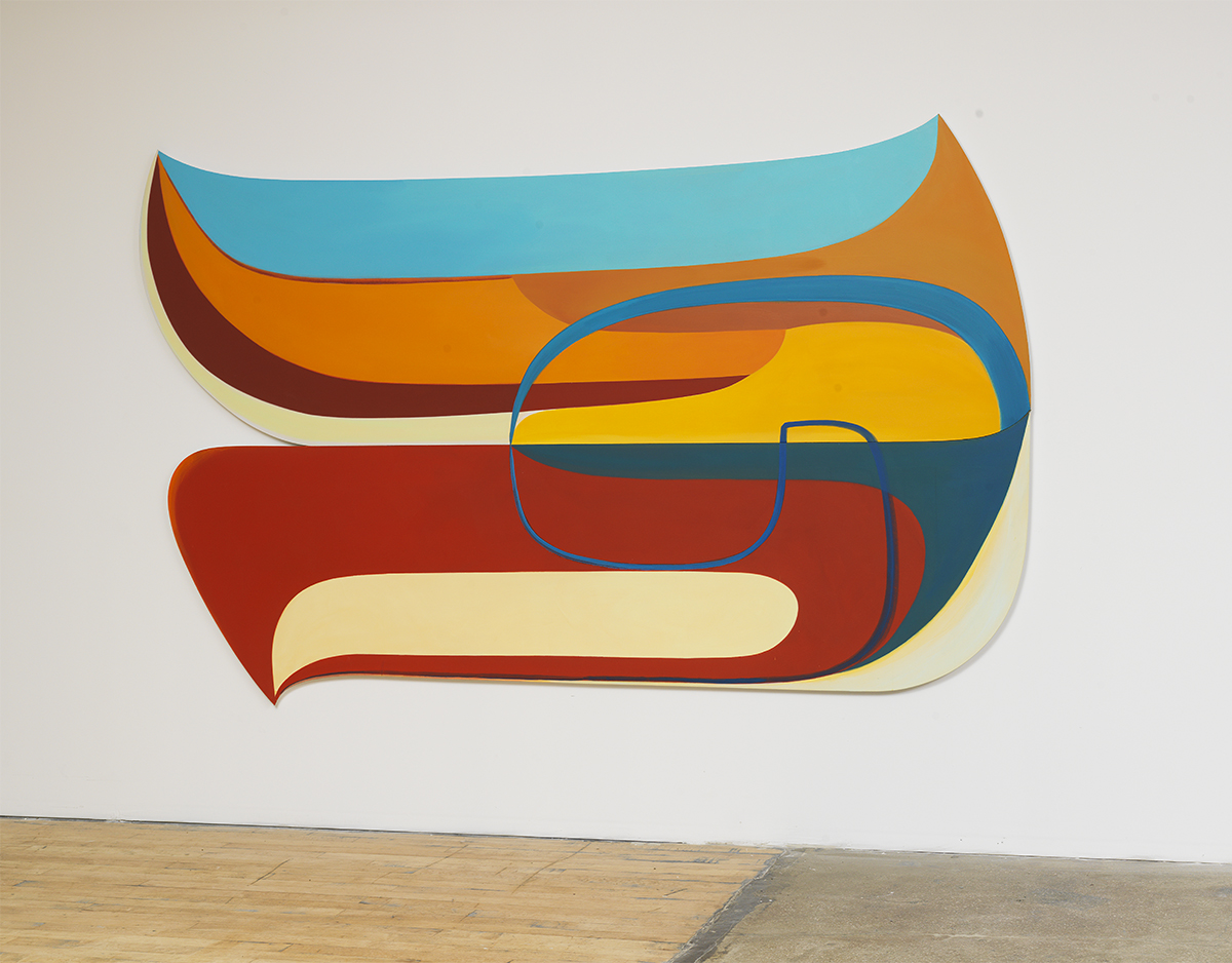 "Joanna Pousette-Dart, ""2 Part Variation #2 (Red, Yellow, Blue), 2012-13."