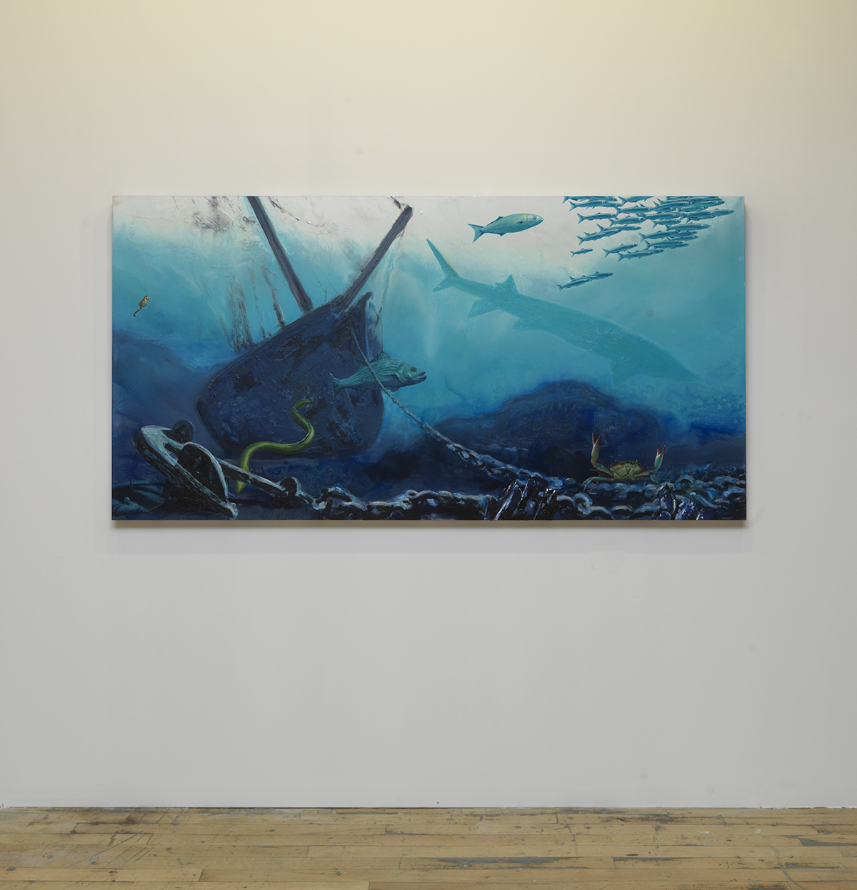 "Alexis Rockman, ""Hudson Estuary,"" 2011."