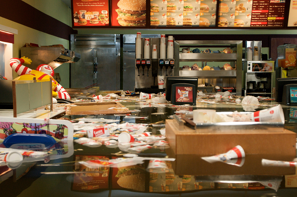 "Superflex, ""Flooded McDonald's,"" 2008."