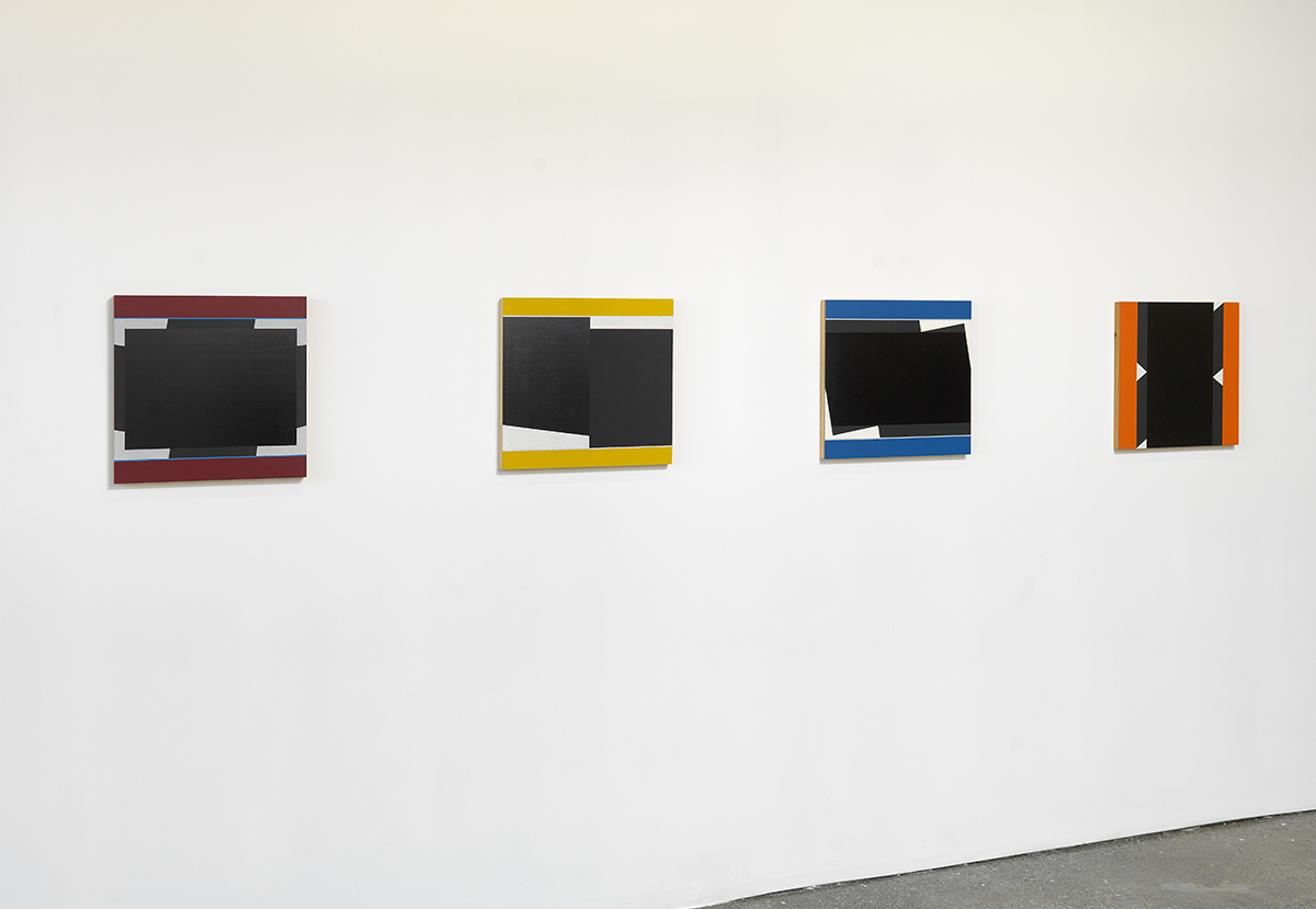 "Don Voisine, L to R: ""Projector,"" 2012. ""Drop,"" 2011. ""Stygian Sky,"" 2012. ""Incorrigible,"" 2011."