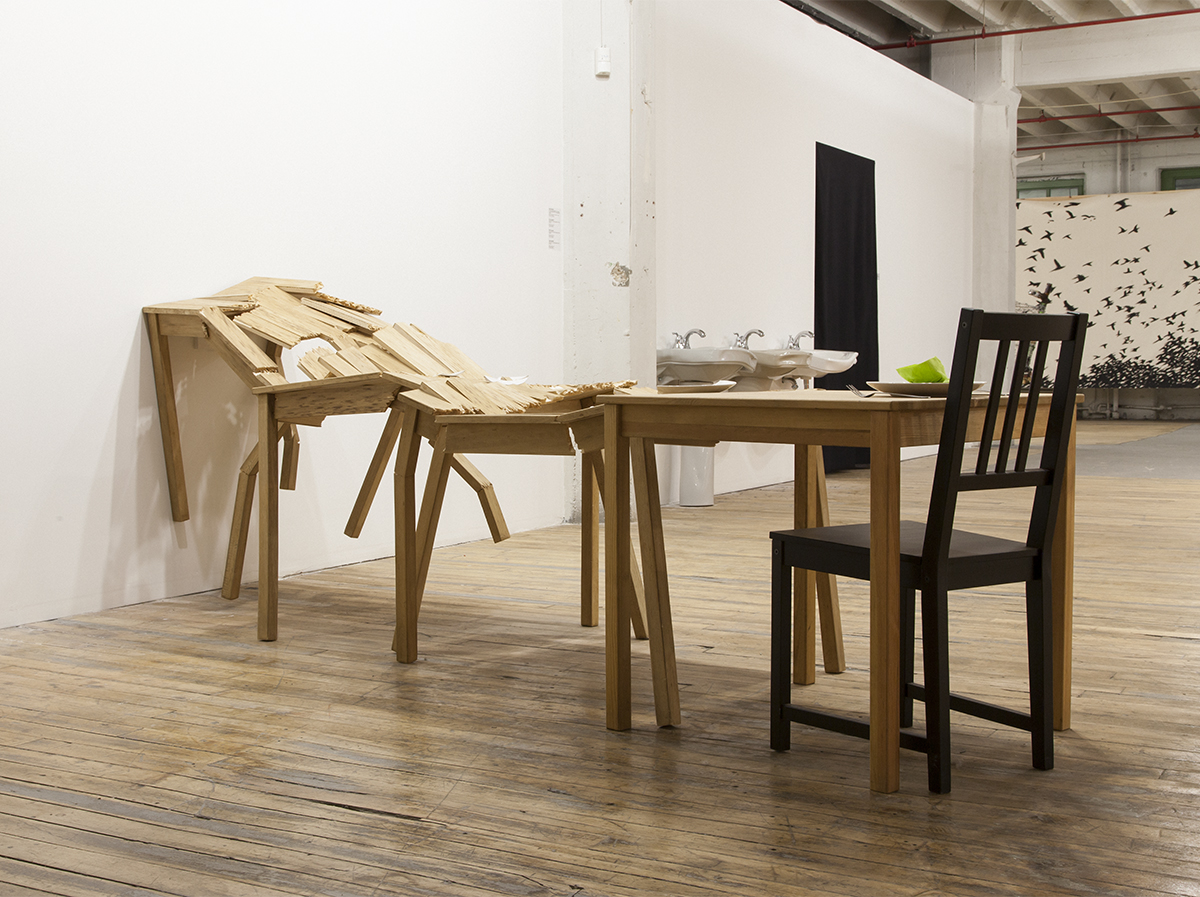 "Beth Campbell, ""Crashing Tables (Moments crashing...I underestimated the consequences),"" 2005."